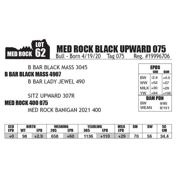 MED ROCK BLACK UPWARD 075
