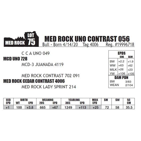 MED ROCK UNO CONTRAST 056