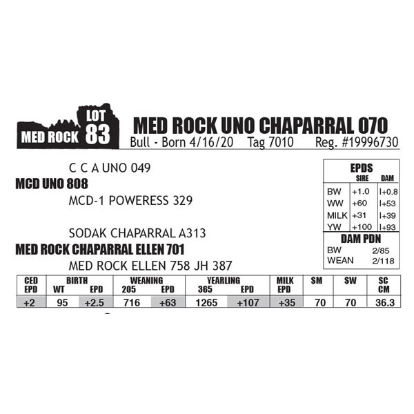 MED ROCK UNO CHAPARRAL 070