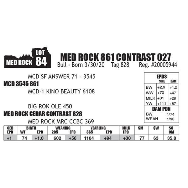 MED ROCK 861 CONTRAST 027