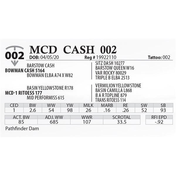 MCD CASH 002