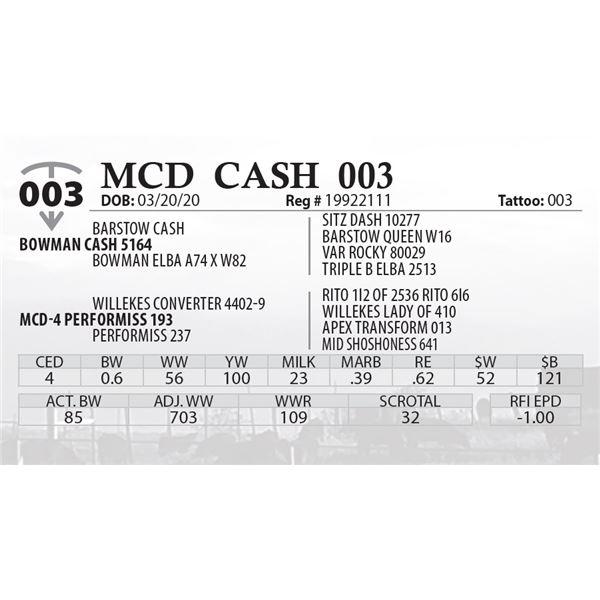 MCD CASH 003