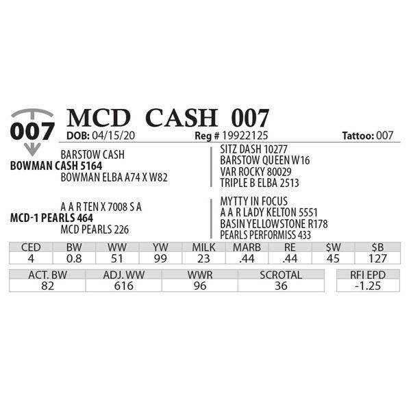 MCD CASH 007