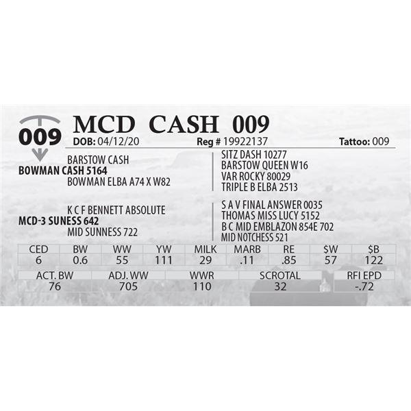 OUT OF SALE - MCD CASH 009
