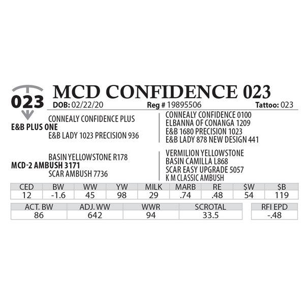 MCD CONFIDENCE 023