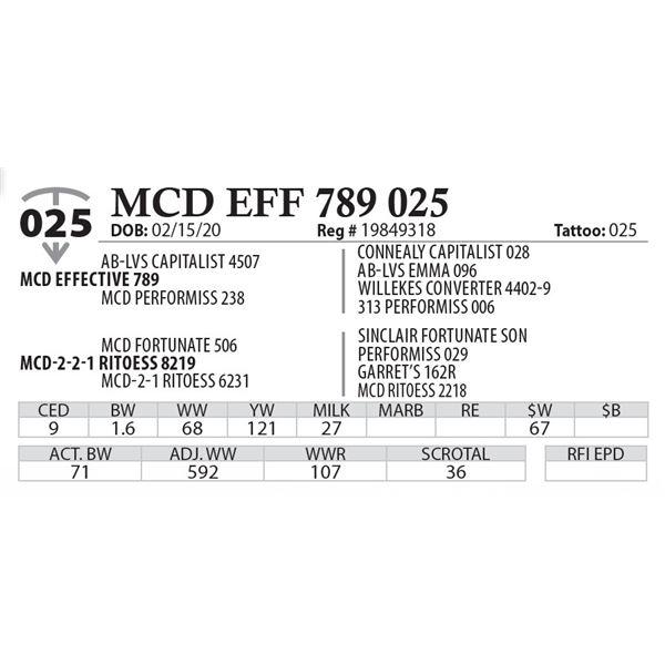 MCD EFF 789 025