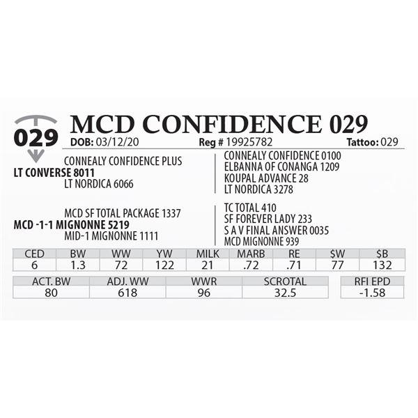 MCD CONFIDENCE 029
