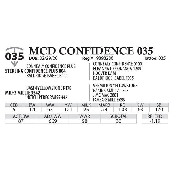 MCD CONFIDENCE 035
