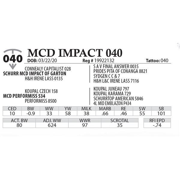 MCD IMPACT 040