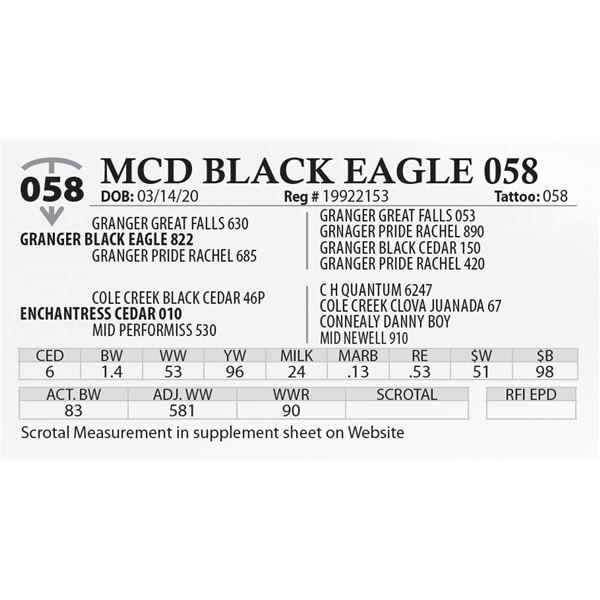 MCD BLACK EAGLE 058