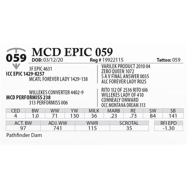 MCD EPIC 059