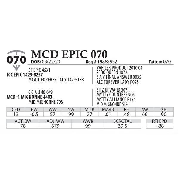MCD EPIC 070