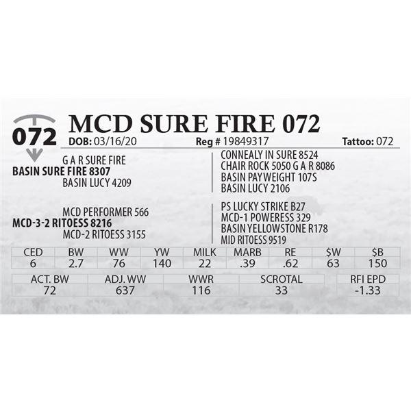 MCD SURE FIRE 072
