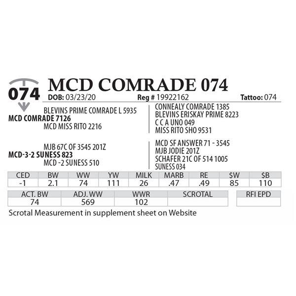 MCD COMRADE 074
