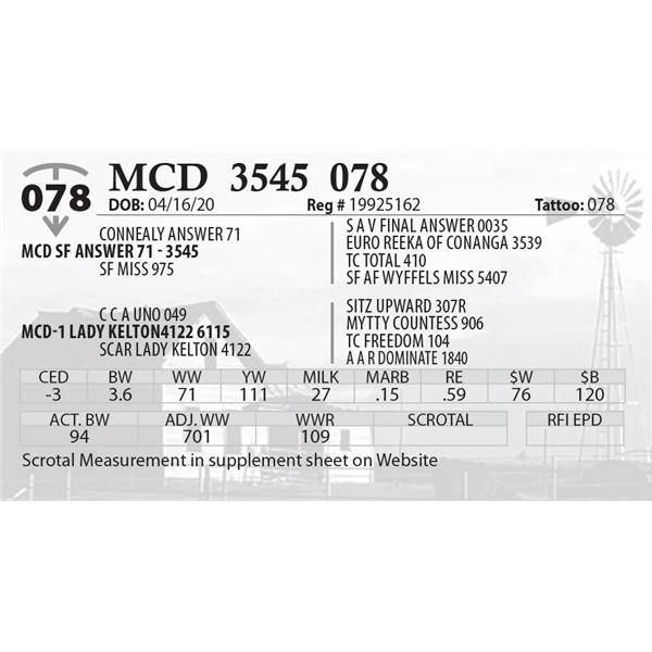 MCD 3545 078