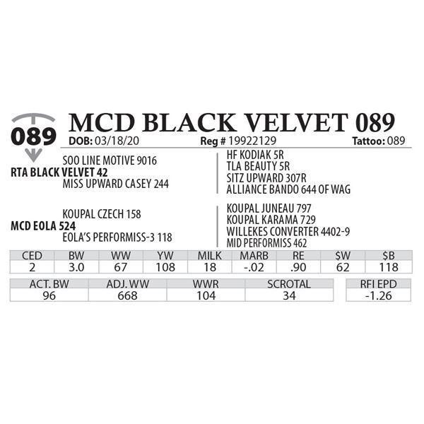 MCD BLACK VELVET 089