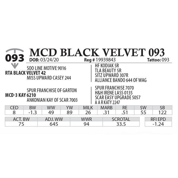 MCD BLACK VELVET 093