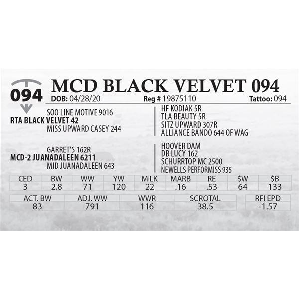 MCD BLACK VELVET 094