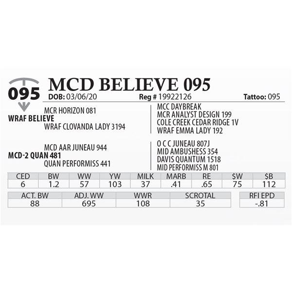 MCD BELIEVE 095