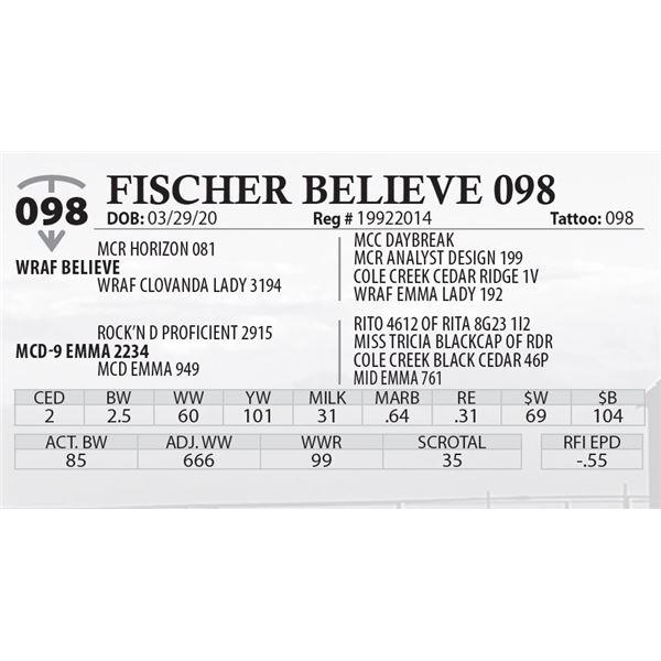 FISCHER BELIEVE 098