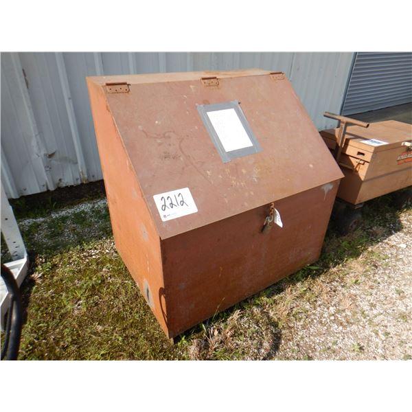 GANG BOX W/ WELDING LEADS, POWER CORDS, AIR HOSE