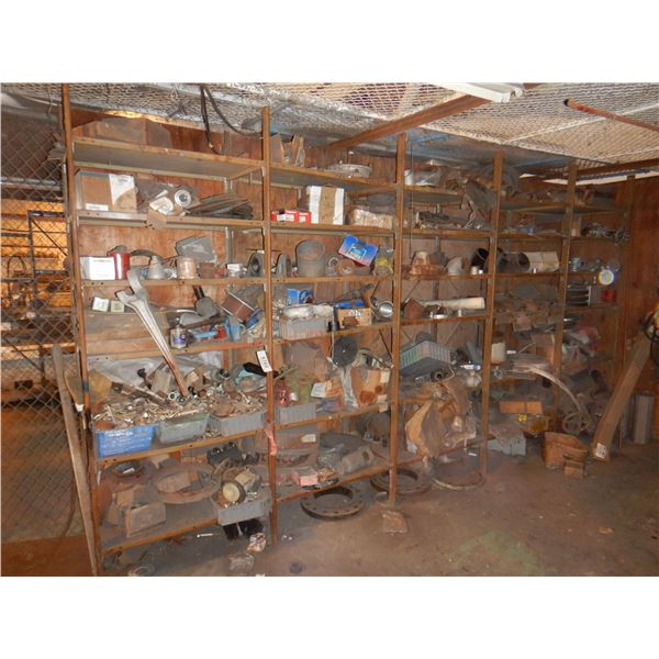 SHELVING/ FILE CABINETS/ FLAMMABLE CABINET w/ CONTENTS