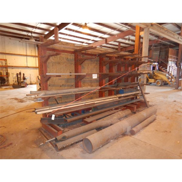 PIPE RACK W/ MISC METAL AND PIPE
