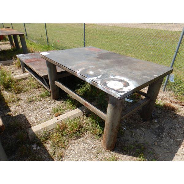 "METAL SHOP TABLE, 2 TIER - 6' x 4' x 1' 8""/ 6' x 4' x 3'"