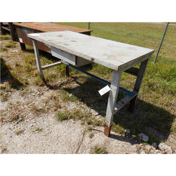 "METAL SHOP TABLE, 6' x 2' 10"" x 3' 6"""