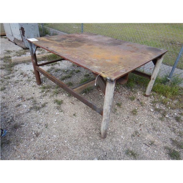 "METAL SHOP TABLE, 6' 4"" x 5' x 3'"