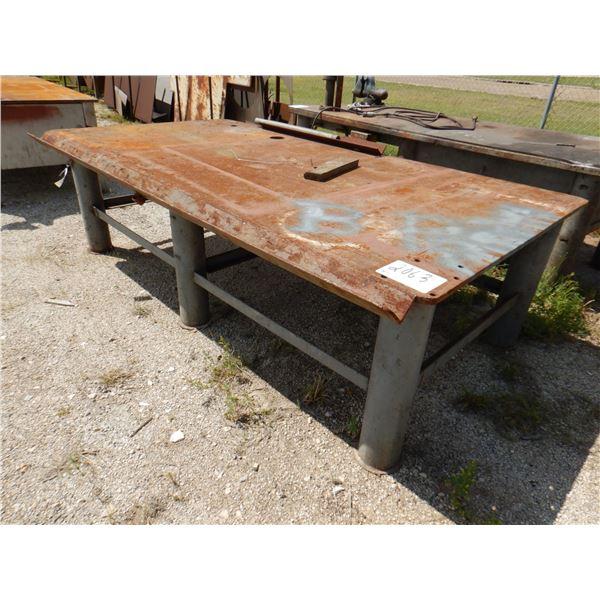 "METAL SHOP TABLE, 10' x 5' x 2' 10"""