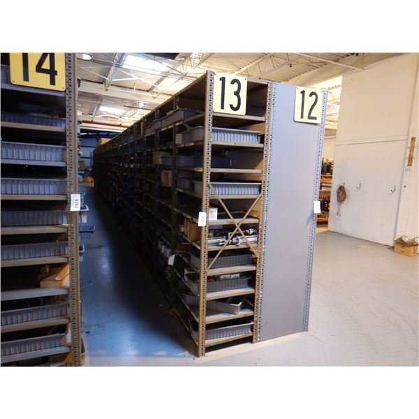 SHELVING UNIT 8' x 2' x 3' (21 SECTIONS)
