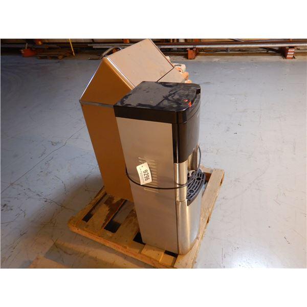 METAL TRASH BIN/ WATER MACHINE