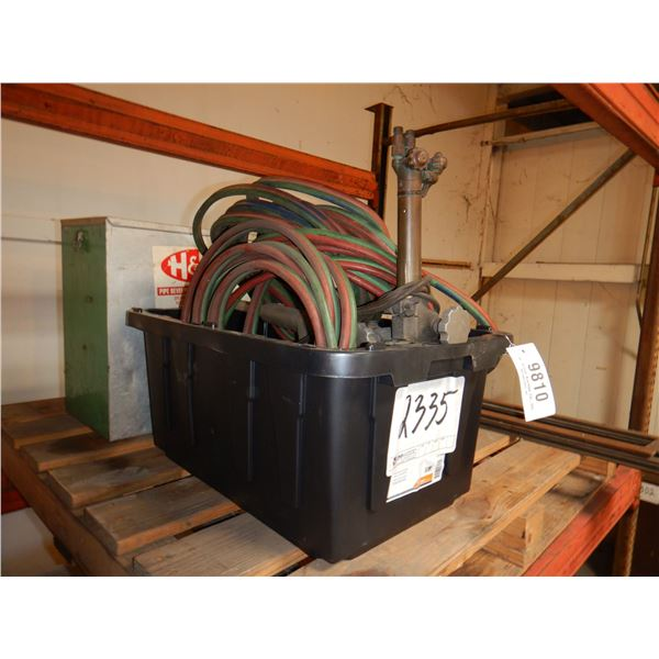 TRACK TORCH SYSTEM W/ HOSE AND GAUGES