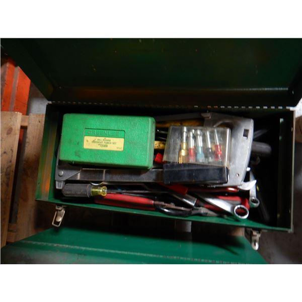 GREENLEE TOOL BOX W/ TOOLS Shop Equipment