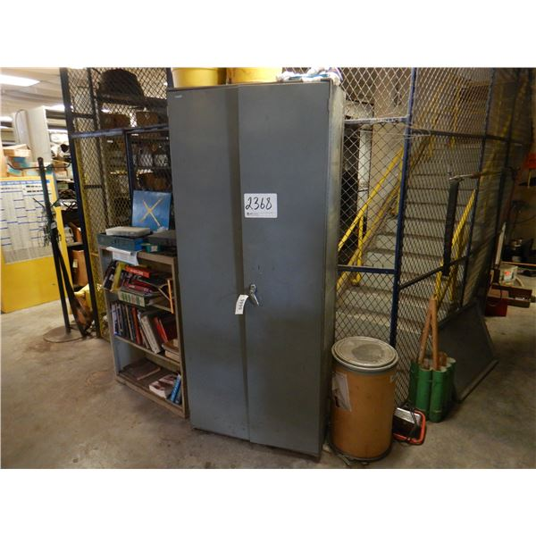 METAL CABINET W/ CONTENTS