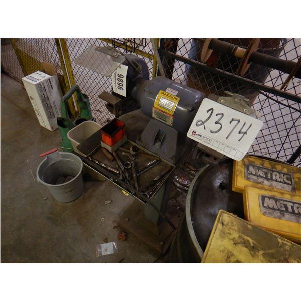 BALDOR BENCH GRINDER W/ STAND Shop Equipment