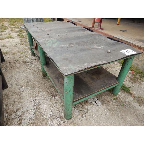 METAL TABLE, 4' x 8'