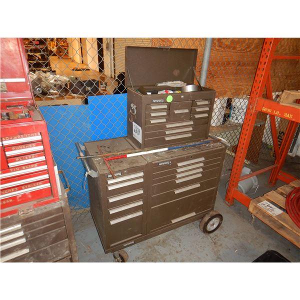 KENNEDY TOOL BOX W/ TOOLS Shop Equipment
