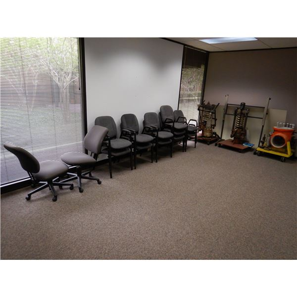 TABLES, OFFICE CHAIRS, SPRING COMPRESSORS