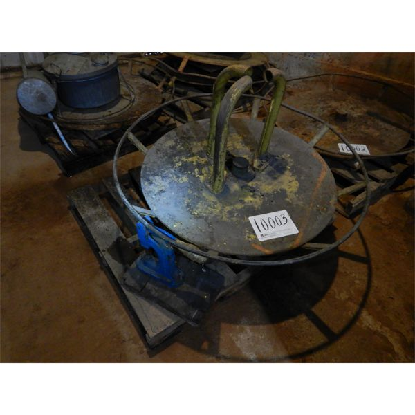 TURN TABLE FRAME W/ STIMPSON PRESS, Selling Offsite: Located in Birmingham, AL