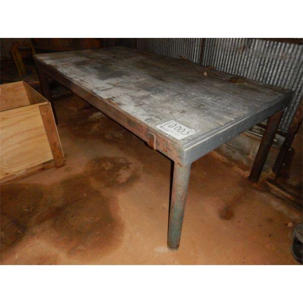 8' x 4' METAL TABLE, Selling Offsite: Located in Birmingham, AL