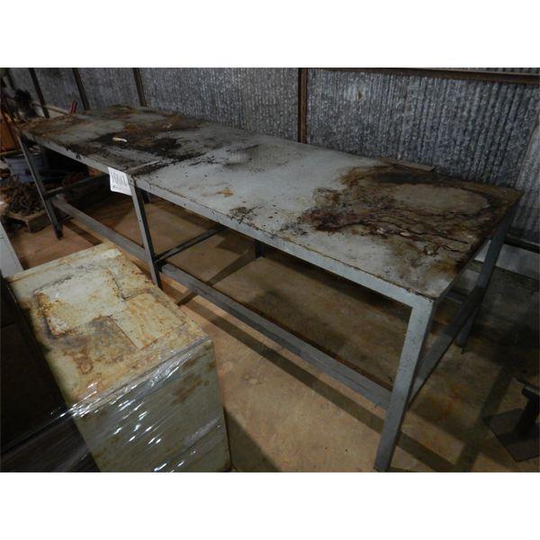 10' x 3' METAL TABLE, Selling Offsite: Located in Birmingham, AL