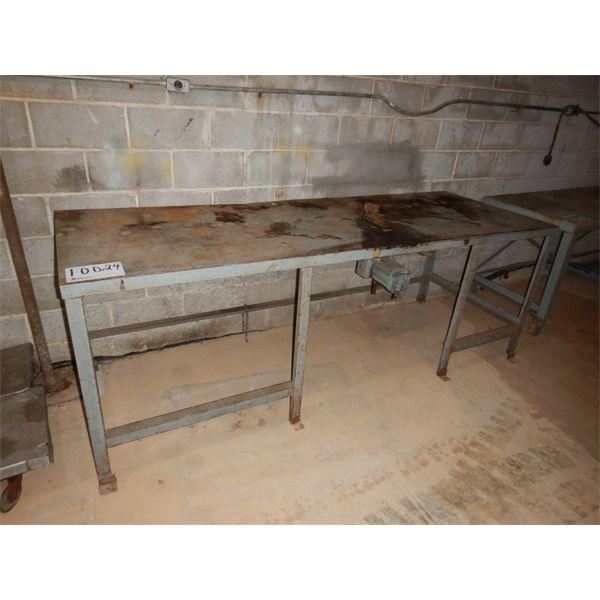 8.5' x 3' METAL TABLE, Selling Offsite: Located in Birmingham, AL