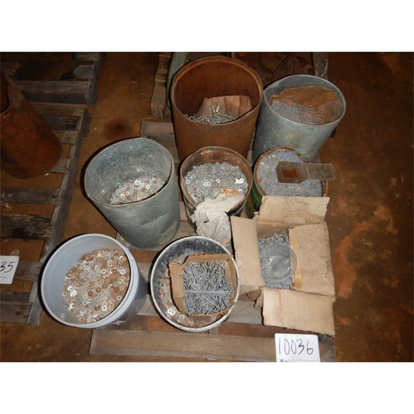 MISC WASHERS, STAKES, BOLTS, Selling Offsite: Located in Birmingham, AL