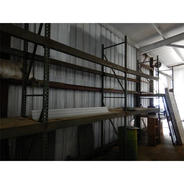 WAREHOUSE SHELVING, 8' x 3' x 12' SECTIONS (5 SECTIONS), Selling Offsite: Located in Birmingham, AL