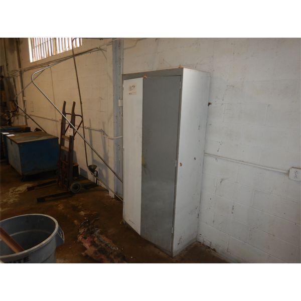 2 DOOR METAL CABINET, Selling Offsite: Located in Birmingham, AL