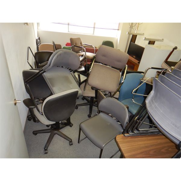 MISC OFFICE CHAIRS AND DESKS, Selling Offsite: Located in Birmingham, AL