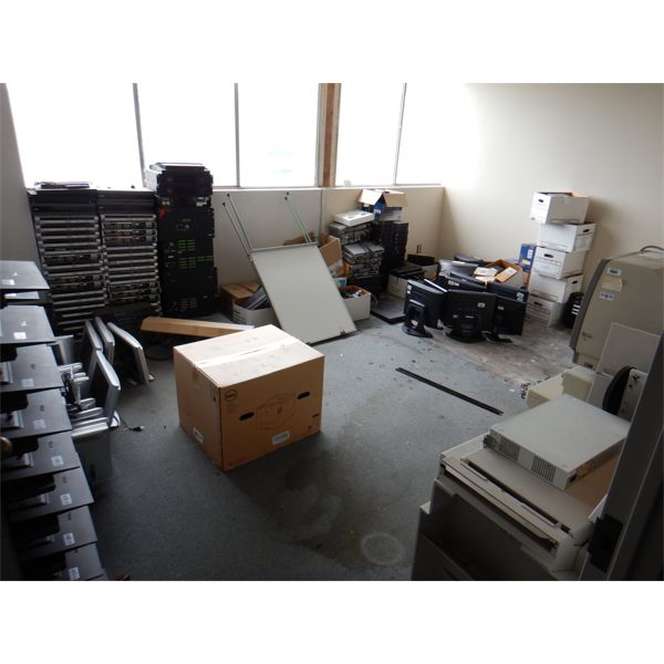 MISC OFFICE EQUIPMENT- SECURITY CAMERAS, TRIPODS, DVD PLAYERS, MONITORS, DVR's, NETWORK SWITHCES, Se