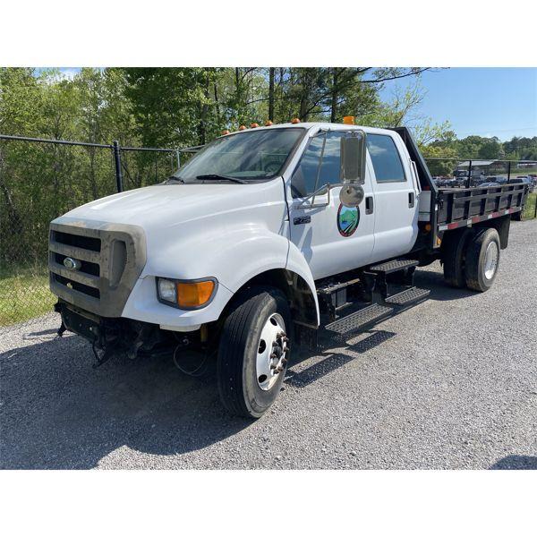 2006 FORD F750 Flatbed Dump Truck